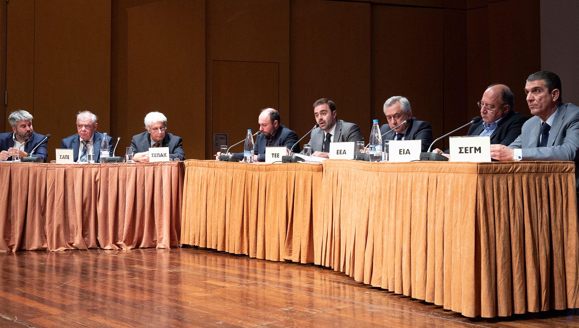 Παρέμβαση Τάσου Ηλία και Πάρη Χαρλαύτη σχετικά με την ανάπτυξη και το μέλλον των κατασκευών στην Ελλάδα